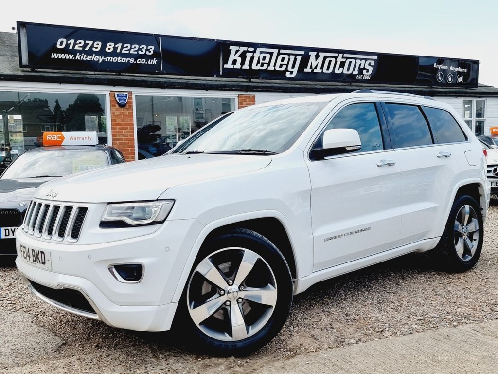 USED 2014 14 JEEP GRAND CHEROKEE 3.0 V6 CRD OVERLAND AUTO PANORAMIC SUNROOF HIGH SPECIFICATION