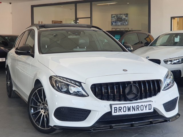 USED 2017 17 MERCEDES-BENZ C-CLASS 2.1 C 220 D AMG LINE PREMIUM 5d 170 BHP BRM BODY STYLING+PAN ROOF