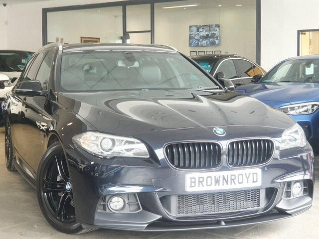 USED 2014 14 BMW 5 SERIES 2.0 520D M SPORT TOURING 5d 181 BHP BM PERFORMANCE STYLING+7.9 APR