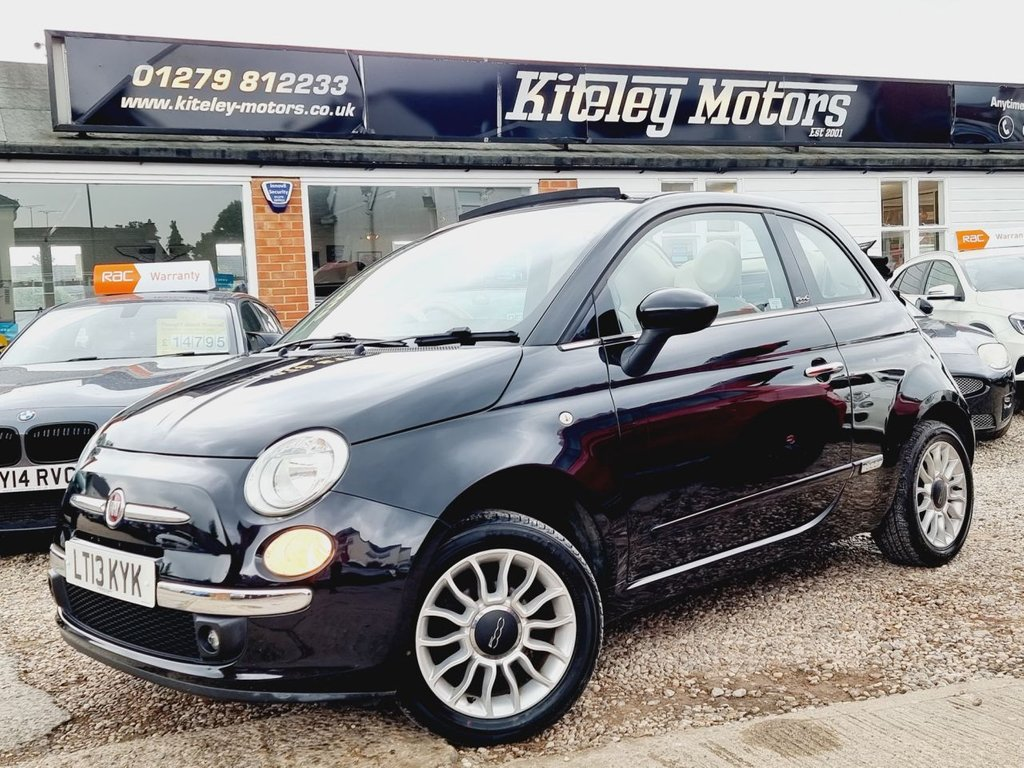 USED 2013 13 FIAT 500C 1.2 LOUNGE 3d 69 BHP CONVERTIBLE