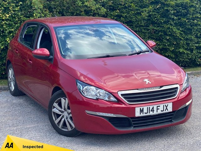 USED 2014 14 PEUGEOT 308 1.6 E-HDI ACTIVE 5d 114 BHP * LOW MILEAGE CAR * 12 MONTHS FREE AA MEMBERSHIP *