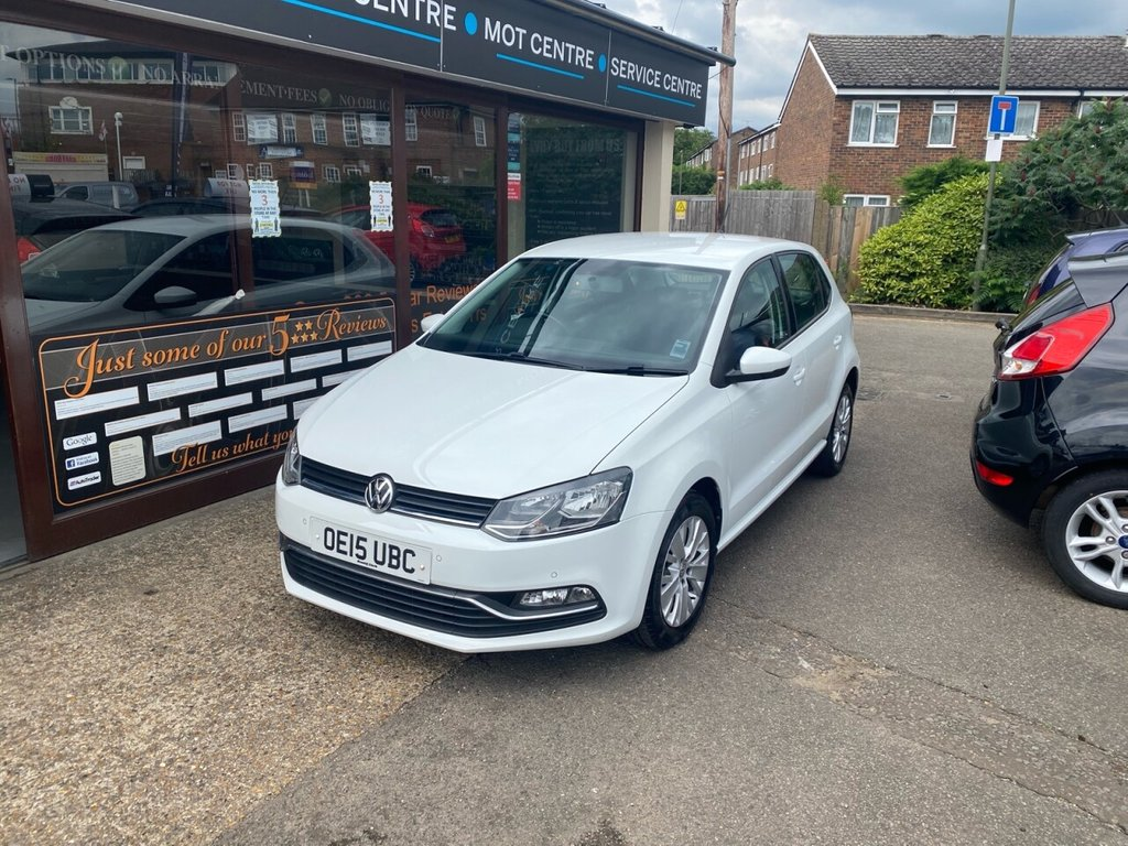 USED 2015 15 VOLKSWAGEN POLO 1.0 SE 5d 60 BHP BLUETOOTH -TOUCH SCREEN - USB - DAB - AUX - AIRCON - ALLOYS - FRONT & REAR PARKING SENSORS - CRUISE CONTROL