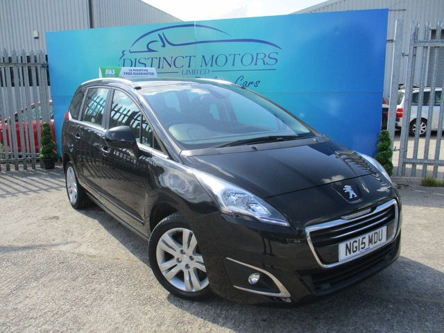 USED 2015 15 PEUGEOT 5008 1.6 BLUE HDI S/S ACTIVE 5d 120 BHP ONLY 1 FORMER OWNER+ONLY 24K