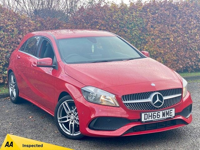 USED 2017 66 MERCEDES-BENZ A-CLASS 1.5 A 180 D AMG LINE EXECUTIVE 5d 107 BHP * 12 MONTHS FREE AA MEMBERSHIP * HEATED FRONT SEATS * SATELLITE NAVIGATION * BLUETOOTH *