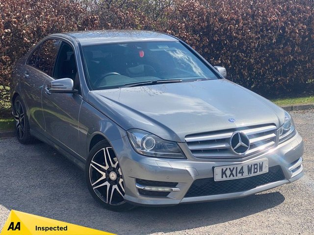 USED 2014 14 MERCEDES-BENZ C-CLASS 2.1 C220 CDI BLUEEFFICIENCY AMG SPORT PLUS 4d SERVICE HISTORY, 12 MONTHS MOT, SATELLITE NAVIGATION, BLUETOOTH, CRUISE CONTROL, FRONT AND REAR PARKING SENSORS