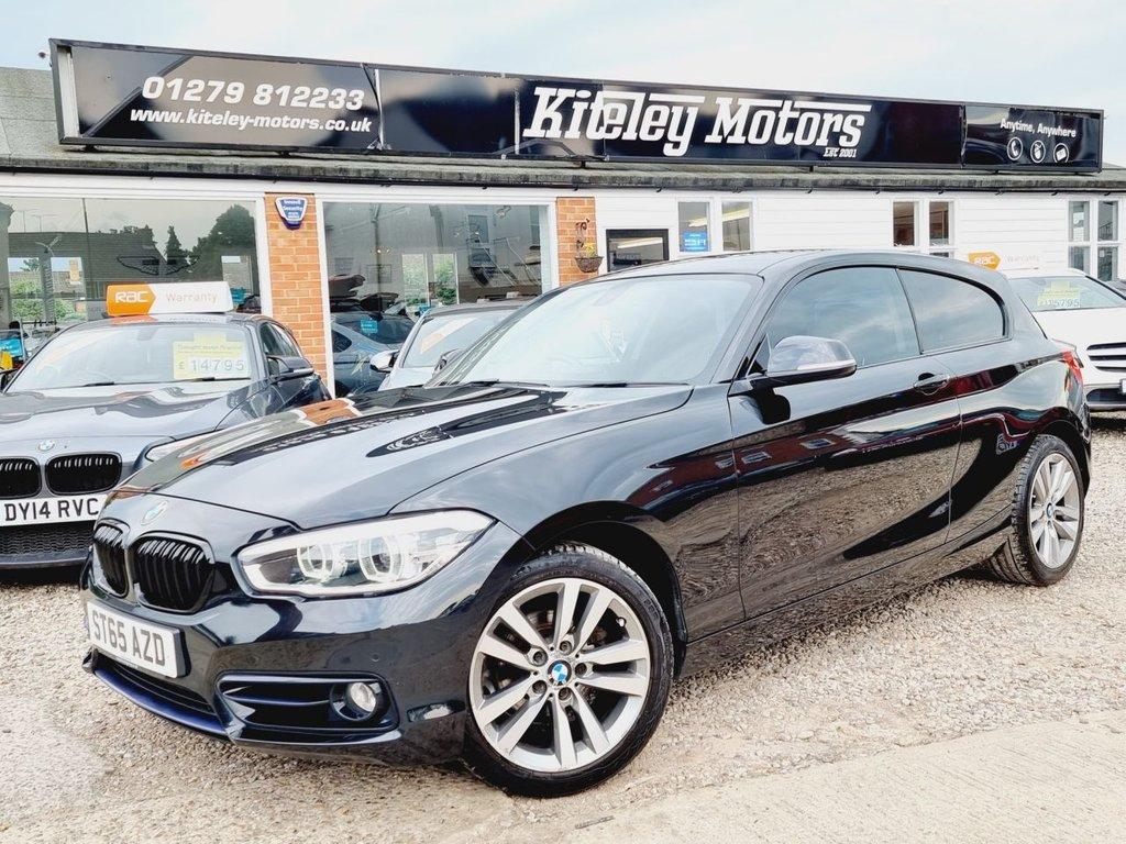 USED 2015 65 BMW 1 SERIES 2.0 118D SPORT 3d 147 BHP SATELLITE NAVIGATION