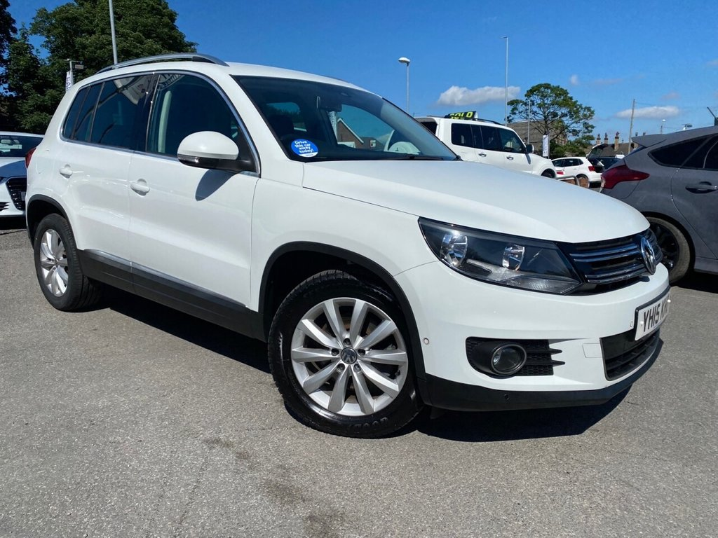 USED 2015 15 VOLKSWAGEN TIGUAN 2.0 MATCH TDI BLUEMOTION TECHNOLOGY 5d 139 BHP SUPERB LOW MILEAGE EXAMPLE