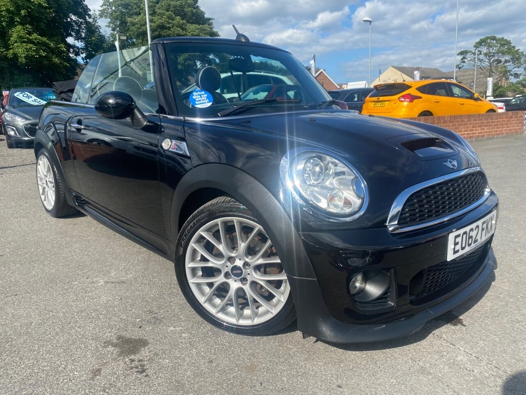 USED 2012 62 MINI CONVERTIBLE 1.6 COOPER S 2d 184 BHP 11 SERVICE STAMPS-NEW CLUTCH @ 82k