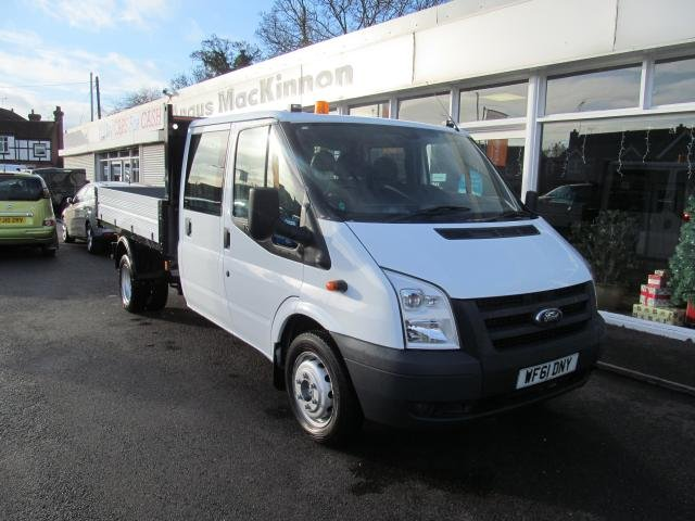 2011 61 FORD TRANSIT 2.4 350 DOUBLECAB TIPPER 115PS