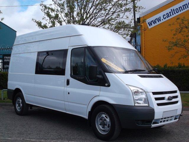 2010 10 FORD TRANSIT 115 T350L 8 seat Welfare-Mess unit Crew Window van 92K Free UK Delivery Lez