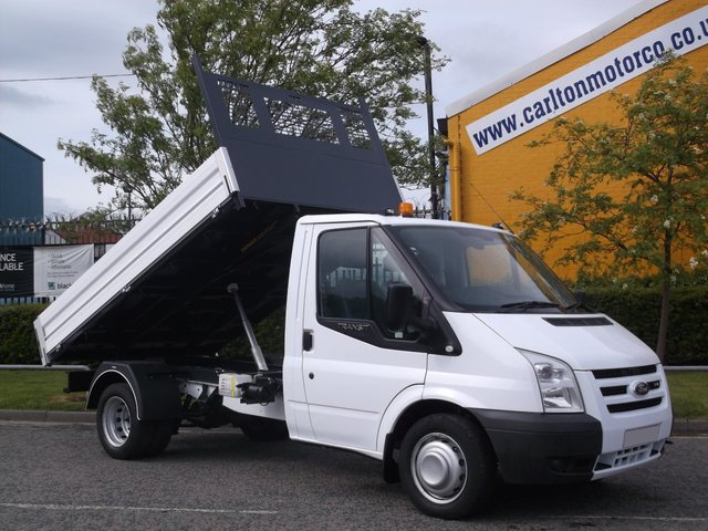 2008 58 FORD TRANSIT 100 T350m S/Cab Tipper Low mileage 37k Free uk Delivery