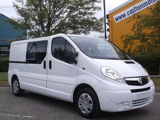 2012 62 VAUXHALL VIVARO 2.0CDTi Double Cab  Low mileage 66K Free uk Delivery