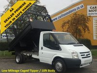 USED 2011 61 FORD TRANSIT T350m Tipper Caged 10.5ft body Low Miles Free UK Delivery