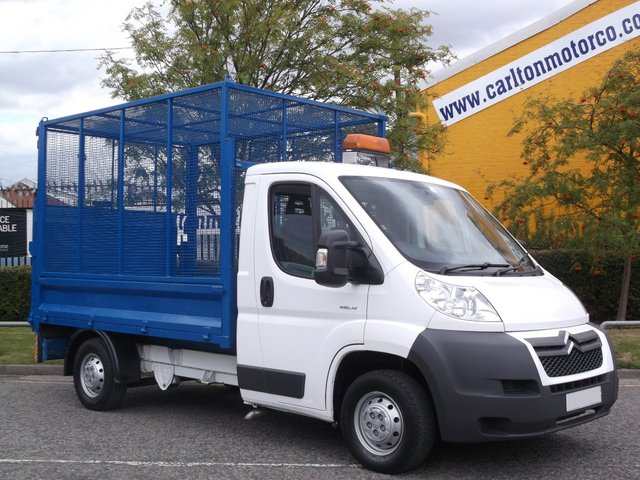 2008 58 CITROEN RELAY 35 L2 Refuge-Caged Dropside+T/Lift 39K Free uk Delivery