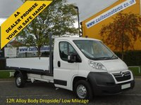 USED 2010 60 CITROEN RELAY 35 2.2HDi 120ps L3 Dropside Pickup Low Mileage Free UK Delivery 12 FT BODY