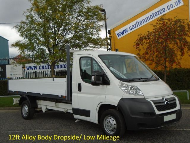 2010 60 CITROEN RELAY 35 2.2HDi 120ps L3 Dropside Pickup 12ft body Free UK Delivery,