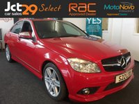 USED 2007 MERCEDES-BENZ C 220 CDI SPORT AUTO IN BRIGHT RED WITH PART LEATHER INTERIOR-17 INCH ALLOY WHEELS-STUNNING EXAMPLE-BUY NOW PAY LATER-P/X WELCOME(CASH EITHER WAY) *** REF. KEY NUMBER 20 ***
