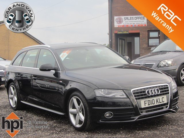 2010 10 AUDI A4 AVANT 2.0 TDI S LINE SPECIAL EDITION AUTO 140BHP