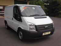 2012 FORD TRANSIT 100T 250 2.2TDCi 6 SPEED SWB LOW ROOF VAN WITH HEATED SCREEN, One Company Owner with PSH and Only 62,000 Miles!! £6975.00