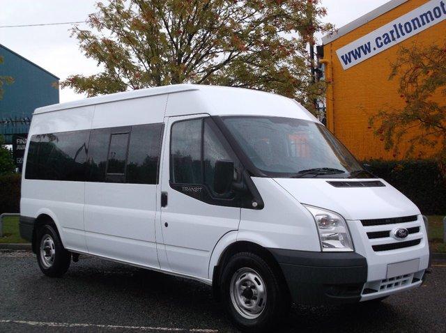 2010 10 FORD TRANSIT 115 T370L 15s Minibus [ m2 ] Lwb Medium roof Rwd Free UK Delivery