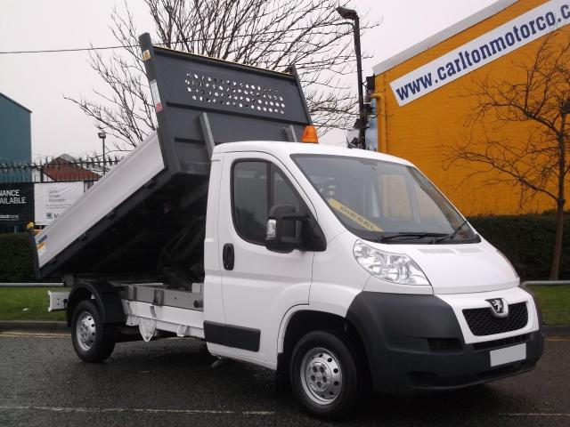 2013 63 PEUGEOT BOXER 2.2 HDI 335 L2 Tipper Mwb Alloy Body Low Mileage,Free UK Delivery