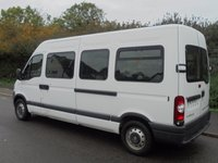USED 2008 08 VAUXHALL COMMERCIAL MOVANO LWB 3500 2.5CDTI 120BHP LWB 17 SEATER MINI BUS +DIRECT MOD+ LOW MILES