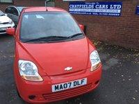 2007 CHEVROLET MATIZ 1.0 SE A/C 5d 65 BHP £1990.00