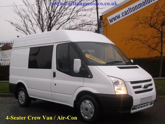 2013 13 FORD TRANSIT 2.2Tdci 125 T300 Crew Van Free UK Delivery
