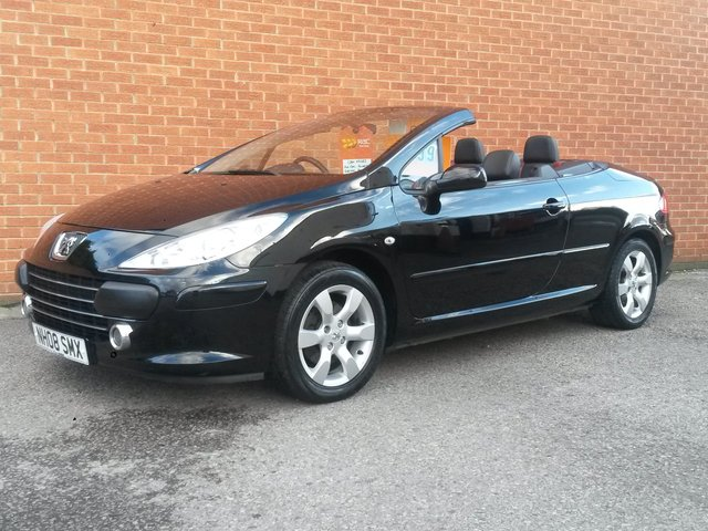 2008 08 PEUGEOT 307 1.6 ALLURE COUPE CABRIOLET 2d FULL LEATHER