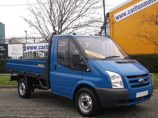 2009 09 FORD TRANSIT 100 T300S Dropside Pickup 9.5ft Alloy body SRW Free UK Delivery