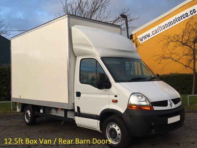2009 59 RENAULT MASTER 2.5dci Lwb Luton Box 12.5ft van Barn doors Ex Lease Free UK Delivery