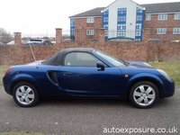 USED 1999 V TOYOTA MR2 CONVERTABLE ROADSTER 1.8 IMPORT 2d   (NO MOT) SOLD WITH NO MOT AND A RIPPED BACK HOOD; SOLD FOR SPARES OR REPAIR.