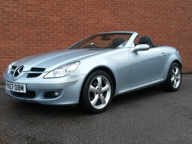 2007 57 MERCEDES-BENZ SLK 1.8 SLK200 KOMPRESSOR 2d FULL BLACK LEATHER SEATS