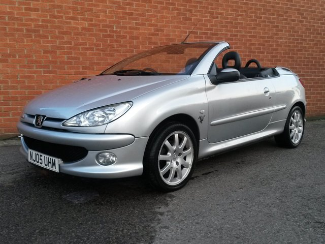 2005 05 PEUGEOT 206 2.0 ALLURE SE COUPE CABRIOLET 2d BLACK LEATHER