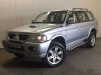 USED 2006 06 MITSUBISHI SHOGUN SPORT 2.5 WARRIOR TD GLX 5d 114 BHP LEATHER ALLOYS MOT 01/18 4WD. STUNNING SILVER MET WITH FULL BLACK LEATHER TRIM. 18 INCH ALLOYS. SIDE STEPS. COLOUR CODED TRIMS. PRIVACY GLASS. AIR CON. R/CD PLAYER. MOT 01/18. AGE/MILEAGE RELATED SALE. TEL 01937 849492