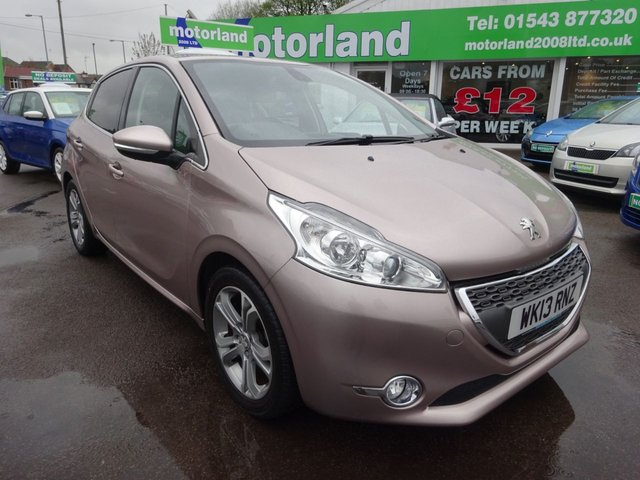 USED 2013 13 PEUGEOT 208 1.2 ALLURE 5d 82 BHP **NO DEPOSIT DEALS AVAILABLE**