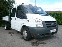 2007 FORD TRANSIT 2.4 350 LWB Double Cab TIPPER 5d 100 BHP £6450.00