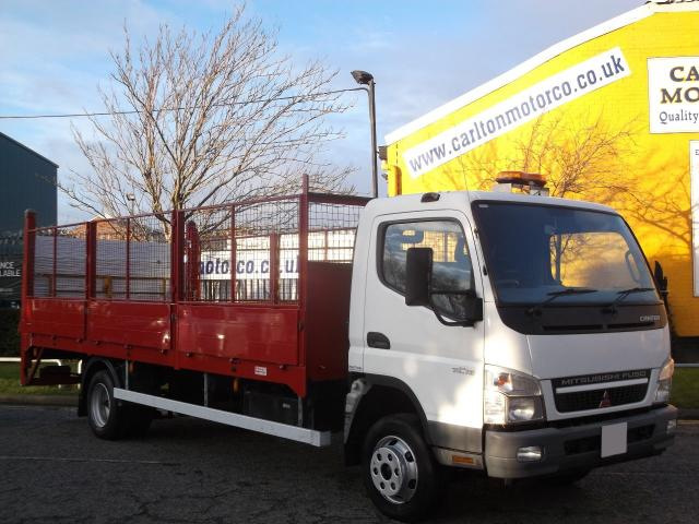 2010 10 MITSUBISHI FUSO CANTER 7C18 Dropside+ T/Lift Caged sides [ Low Mileage 18k ] Delivery T,B,A