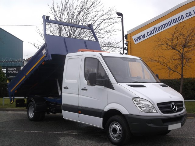 2009 59 MERCEDES-BENZ SPRINTER 516Cdi D/Cab Tipper [ Low Mileage 32K Automatic ] Free UK Delivery