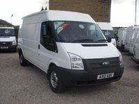 2012 FORD TRANSIT 125T 330 2.2TDCi 6 SPEED LWB MEDIUM ROOF VAN, £5995.00