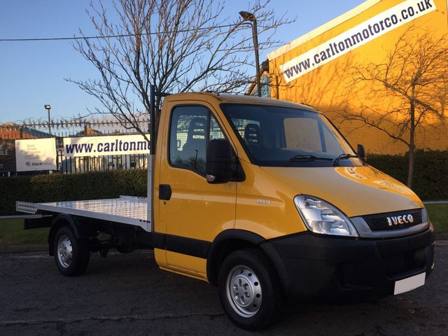 2010 60 IVECO-FORD DAILY 35S13 12ft Alloy Flatbed Low mileage Delivery can be arranged,