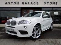 2012 BMW X3 3.0 XDRIVE30D M SPORT 5d AUTO 255 BHP * SAT NAV * £25450.00