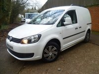 2013 VOLKSWAGEN CADDY 1.6TDI C20 Panel Van £8295.00