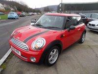 2010 MINI HATCH ONE 1.6 ONE 3d 98 BHP £5995.00