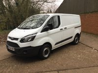 2015 FORD TRANSIT CUSTOM 2.2 290 LR P/V 5d 124 BHP 1 OWNER £12450.00