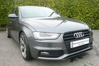 2013 AUDI A4 2.0 TDI S LINE BLACK EDITION START/STOP 4d 177 BHP £16650.00