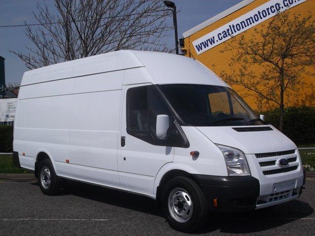 2013 13 FORD TRANSIT 125 350 XLwb Jumbo High Roof Panel van Low Mileage Free UK Delivery