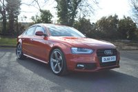 2013 AUDI A4 2.0 TDI S LINE BLACK EDITION 4d 174 BHP IN SPECIAL ORDER VOLCANO RED £11750.00