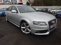 USED 2010 10 AUDI A4 2.0 TDI S LINE 4d 168 BHP [SAT NAV] NATIONALLY PRICE CHECKED DAILY