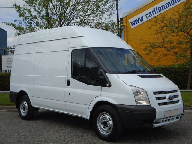 2013 62 FORD TRANSIT 155 T350m High Roof panel van Rwd A/Con +Tacho Ex Lease Free UK Delivery